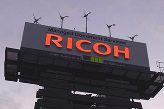 Ricoh LED advertising tower
